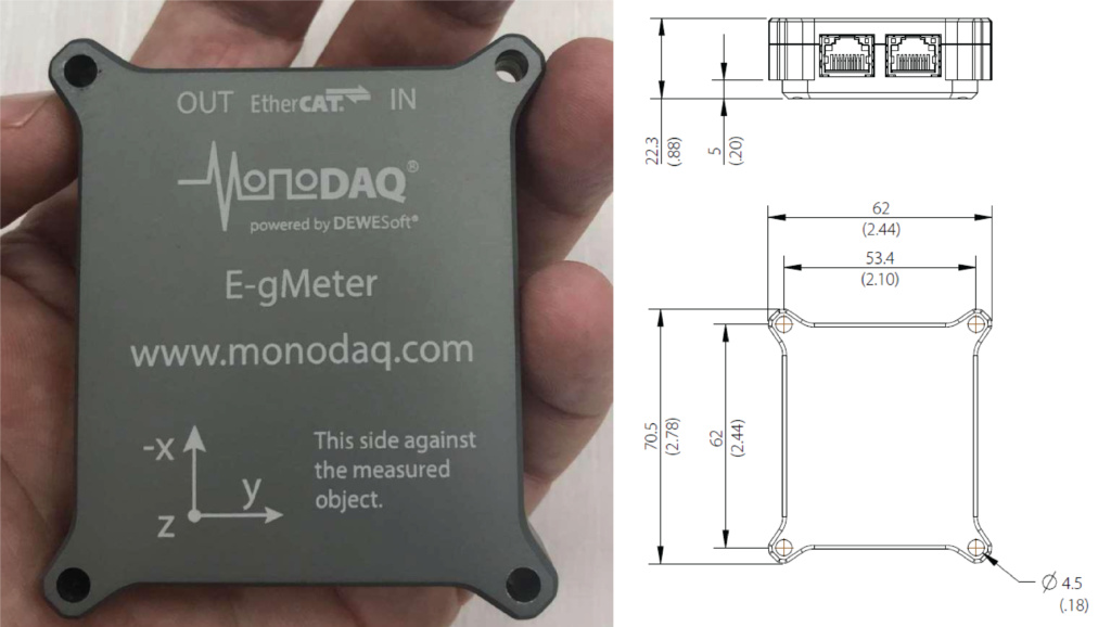 Bridge monitoring MEMS EtherCAT MonoDAQ